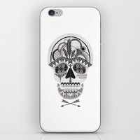 AZTEC SKULL B/W  iPhone & iPod Skin