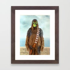 Chewbacca in The Son of A Man Framed Art Print