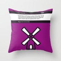 No027 MY Don Quixote Book Icon poster Throw Pillow