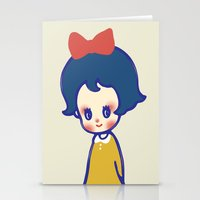 a little girl  Stationery Cards
