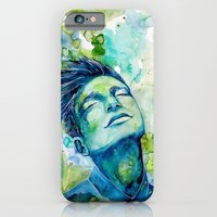 iPhone Cases featuring Dash by carographic, Carolyn Mielke by carographic watercolor portraits