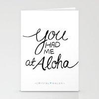 You Had Me at Aloha Stationery Cards