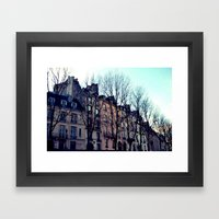 November in Paris Framed Art Print