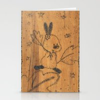 Cute Little Animal On Wo… Stationery Cards