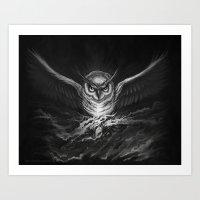 BounD Owl Art Print