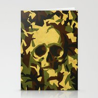 Camouflage skull Stationery Cards