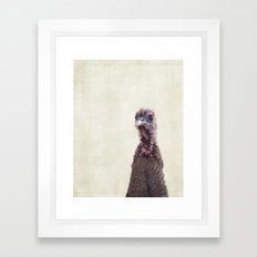 Turkey Portrait Framed Art Print