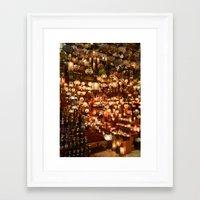 Istanbul Lights Framed Art Print