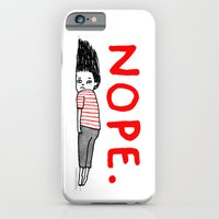 iPhone Cases featuring Nope by gemma correll