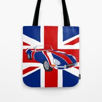 Shaguar (on Union Jack) Tote Bag
