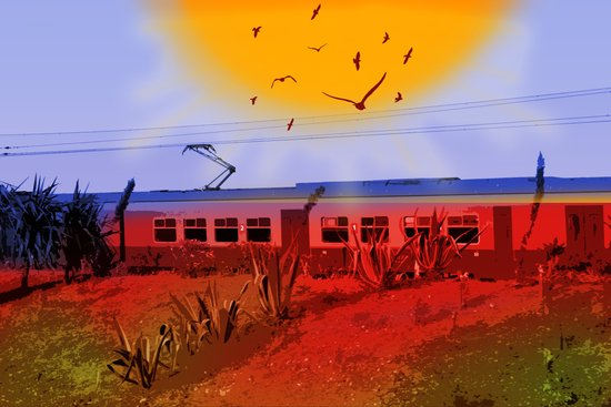 The Train Passed By Art Print