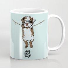 Hang in There Baby English Bulldog Mug