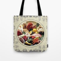 Thanksgiving Dinner and Autumn Decoration. Tote Bag