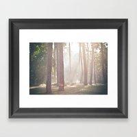 On A Misty Morning Framed Art Print