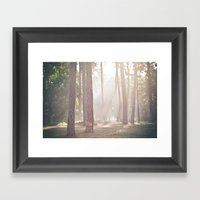On A Misty Morning Framed Art Print