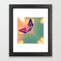 SkyLine/SpaceShip 2 Framed Art Print