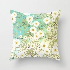 Springtime scene Throw Pillow