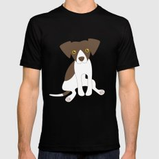 Dave the Dog Black SMALL Mens Fitted Tee