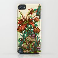 iPod Touch Cases featuring flower by rururara