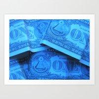 Four Crisp Dollar Bills Art Print