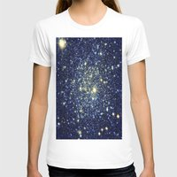 galaxy T-shirts featuring galaxY Stars : Midnight Blue & Gold by 2sweet4words Designs