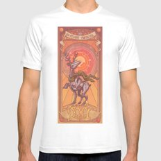 Joyeux Noël White SMALL Mens Fitted Tee