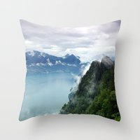 End of the Lake. Throw Pillow