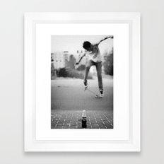 Coke & Skate Framed Art Print