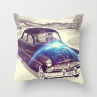 Mercury Spaceship Throw Pillow