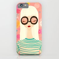 iPhone & iPod Case featuring Girl with big glasses (II) by Renia