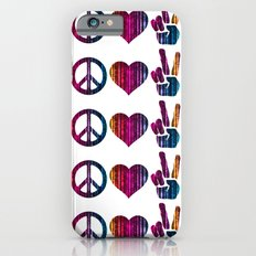 Peace Love and more Peace iPhone 6 Slim Case