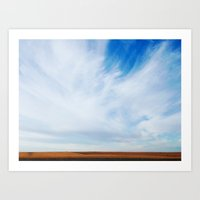 south Dakota Sky Art Print
