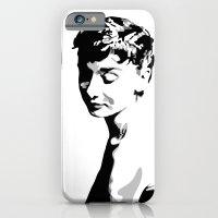 audrey hepburn iPhone & iPod Cases featuring Audrey Hepburn by Geryes