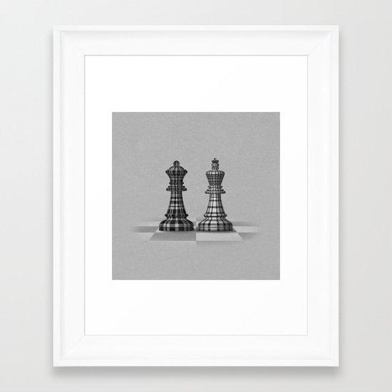 Checked Mates Framed Art Print