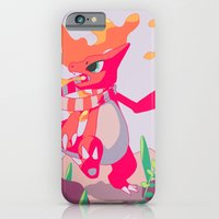 iPhone & iPod Case featuring A Melody in Fire by markkraken
