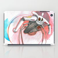 attack of the bunny bot iPad Case