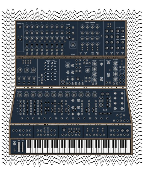 Modular Synth Art Print