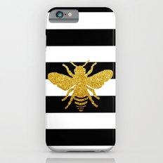 Bee Art in gold glitter effect iPhone 6 Slim Case