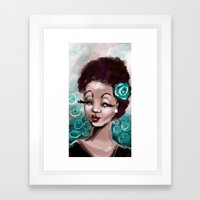 Blue Roses Framed Art Print