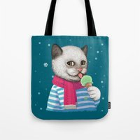 Ice cream & Snow Tote Bag
