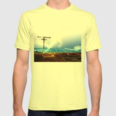 Power Baby, Power by D. Porter Mens Fitted Tee Lemon SMALL