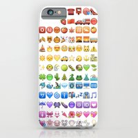 iPhone & iPod Case featuring Emoji icons by colors by Gal Raz