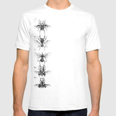 Scarabs Mens Fitted Tee SMALL White
