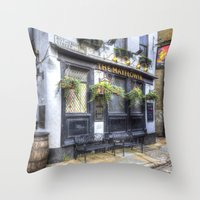 The Mayflower Pub London Throw Pillow