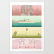Art Print featuring A Wes Anderson Collectio… by George Townley