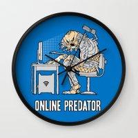 Online Predator Wall Clock