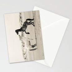 Wild Horses 4 - Black and White Stationery Cards