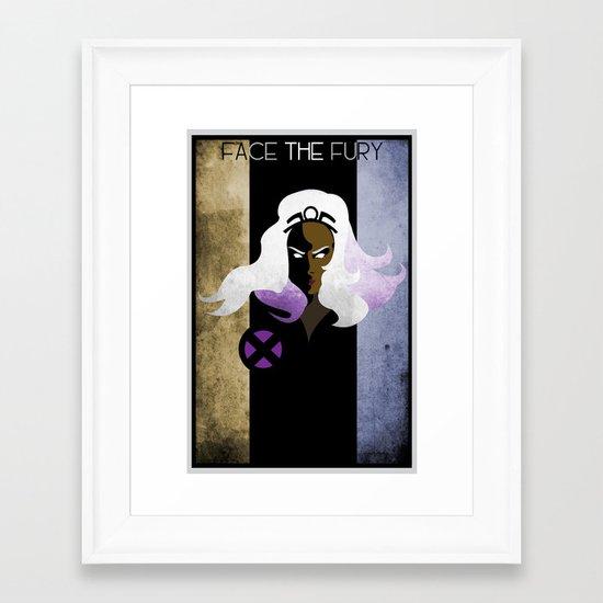 Face The Fury Framed Art Print