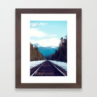 Train to Mountains Framed Art Print