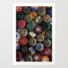 Caps Beer Art Print